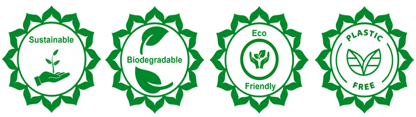sustainable, eco friendly, plastic free, biodegradable