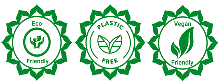 eco-friendly, vegan friendly and plastic free