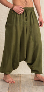 Cotton Aladdin Trousers - 3 colours available - My Green Heart