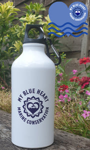 My Blue Heart 500ml Aluminium Water Bottle