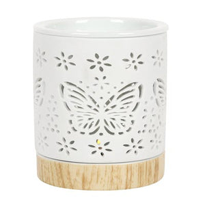 Butterfly Matte Ceramic Oil / Wax Burner