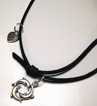 Load image into Gallery viewer, My Blue Heart Dolphin Choker Necklace