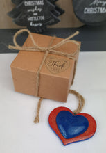 Load image into Gallery viewer, My Blue Heart Recycled Christmas Tree Decoration