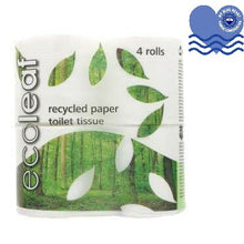 Load image into Gallery viewer, Ecoleaf 100% Recycled Toilet Paper (4 pack / 9 pack)