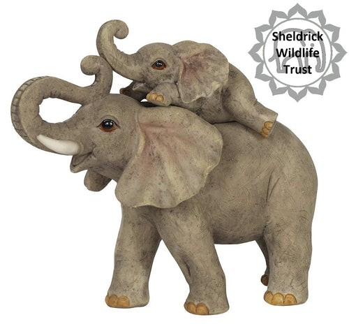 Mother and Baby Elephant Ornament