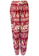 Load image into Gallery viewer, Elephant & Paisley Print Harem Trousers - 6 colours available