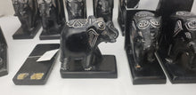 Load image into Gallery viewer, Soapstone Carved Elephant Bookends - DEFECT