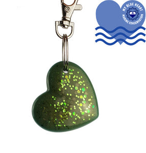 My Blue Heart Keyrings - Heart - 7 colours available