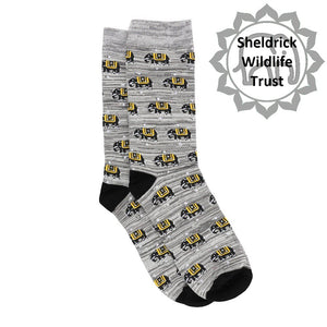 Grey Elephant Bamboo Socks - 2 sizes available