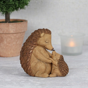 Mother and Baby Hedgehog Ornament - My Green Heart