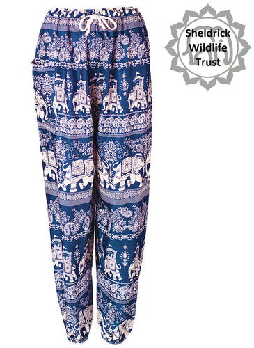 Elephant & Paisley Print Harem Trousers - 6 colours available