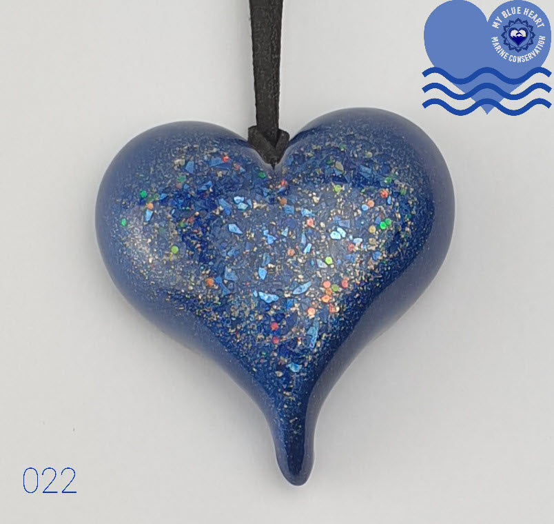 My Blue Heart Necklaces - Large Heart - 5 designs available