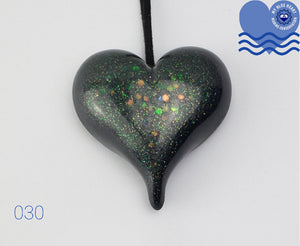 My Blue Heart Black Necklaces - Large Heart