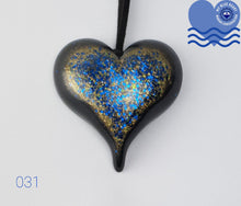 Load image into Gallery viewer, My Blue Heart Black Necklaces - Large Heart