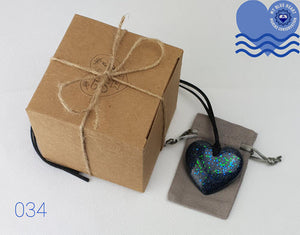 My Blue Heart Necklaces - Black Flat Heart