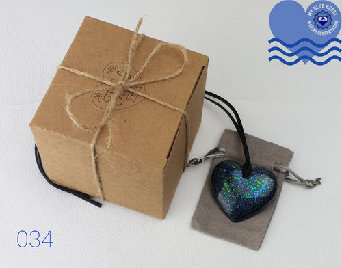 My Blue Heart Necklaces - Flat Heart - 7 designs available