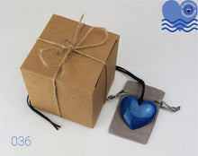 Load image into Gallery viewer, My Blue Heart Necklaces - Flat Heart (Blue)