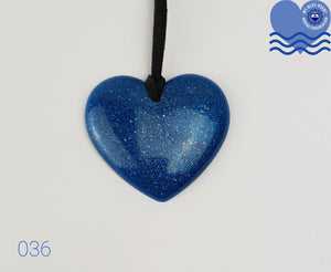 My Blue Heart Necklaces - Flat Heart - 6 designs available