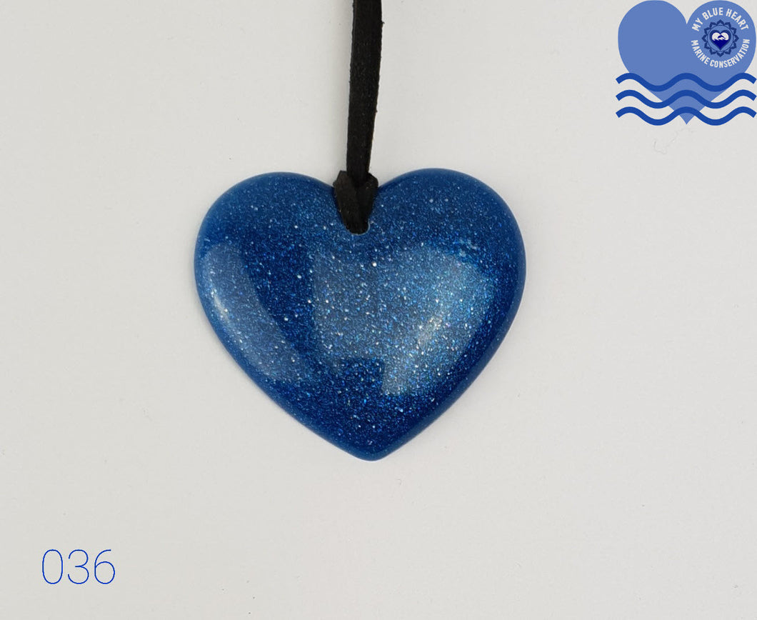 My Blue Heart Necklaces - Flat Heart (Blue)
