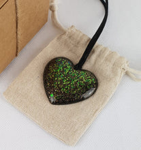 Load image into Gallery viewer, My Blue Heart Necklaces - Black Flat Heart