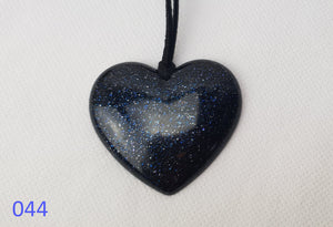 My Blue Heart Necklaces - Flat Heart - 12 designs available