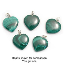 Load image into Gallery viewer, Malachite Heart Pendant - My Green Heart