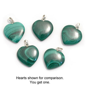 Malachite Heart Pendant - My Green Heart