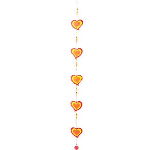 String of Hearts Suncatcher - 2 colours available