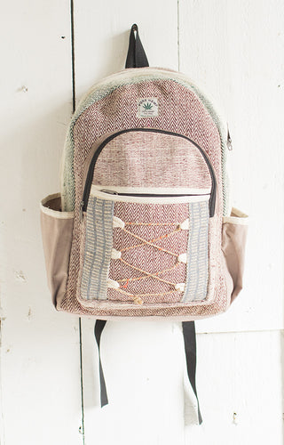 Hemp Backpack with Jute String Detail - My Green Heart
