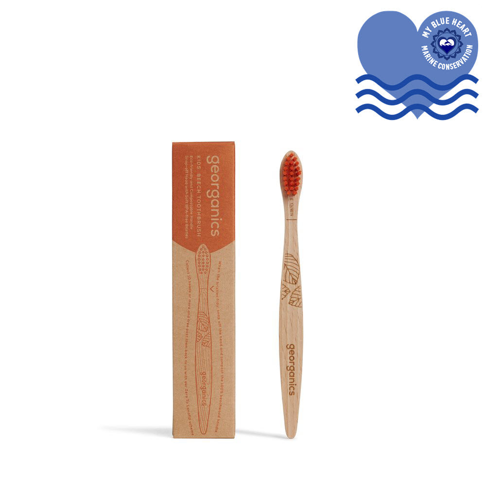 Kids Wooden Toothbrush - Soft Bristles - My Green Heart