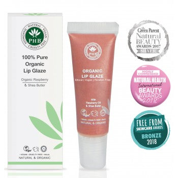 100% Pure Organic Lip Glaze - 6 shades - My Green Heart