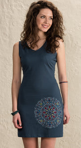Mandala Design Cotton Jersey Dress - 3 colours available - My Green Heart