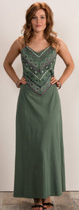 Organic Cotton Strappy Long Maxi Dress - 3 colours available - My Green Heart