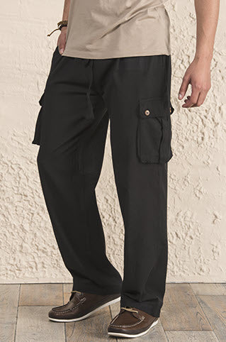 Cotton Trousers with Pockets - 3 colours available