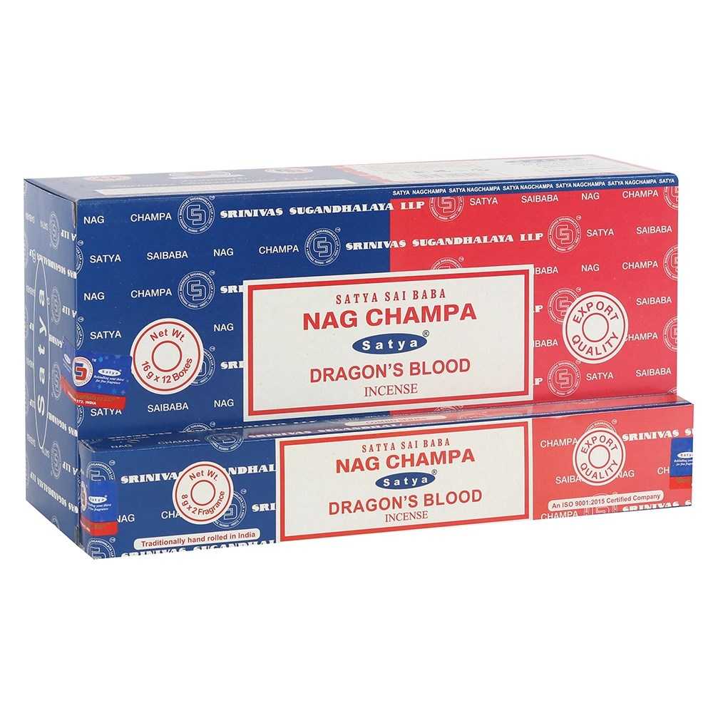 Nag Champa & Dragon's Blood Incense Sticks - Combo Pack