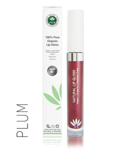 100% Pure Organic Lip Gloss - 13 shades - My Green Heart