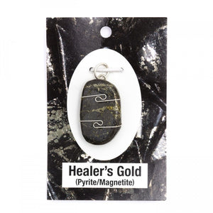 Wire Wrap Silver Pendant - Healer's Gold - My Green Heart