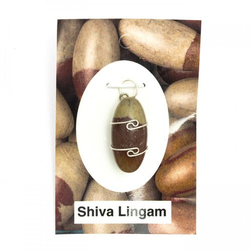 Wire Wrap Silver Pendant - Shiva Lingam - My Green Heart