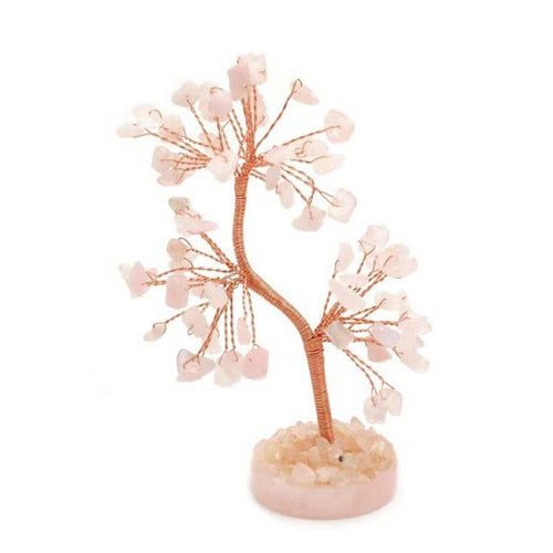 Rose Quartz Gem Tree - My Green Heart