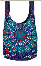 Load image into Gallery viewer, Cotton Sadhu Bag - Peacock Print - My Green Heart