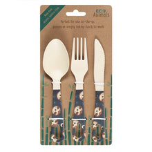 Load image into Gallery viewer, Sidney Sloth Bamboo Cutlery Set - My Green Heart