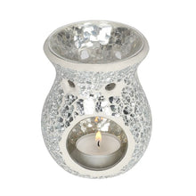 Load image into Gallery viewer, Small Silver Crackle Oil Burner - My Green Heart