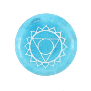 Meditation Stone - Throat Chakra - My Green Heart
