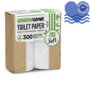 Sugarcane and Bamboo Toilet Roll - 4 pack