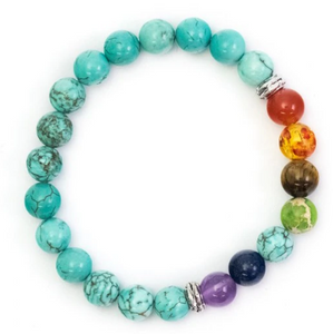 Reconstituted Turquoise Chakra Bracelet - My Green Heart