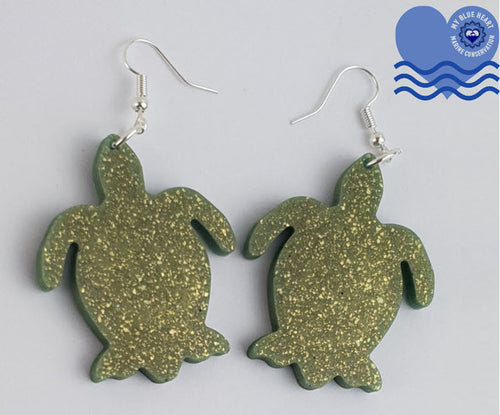 My Blue Heart Earrings - Turtle - 6 colours available