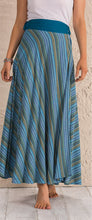 Load image into Gallery viewer, Wrap Stripe Cotton Maxi Skirt - 3 colours available - My Green Heart