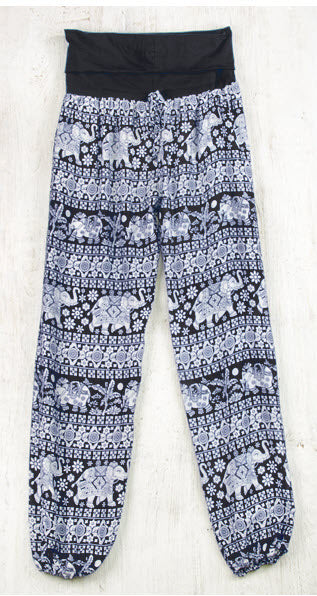 Elephant Print Yoga Trousers - My Green Heart