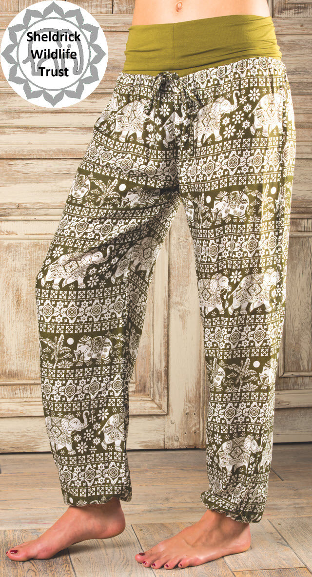 Elephant Print Yoga Trousers - 3 colours available