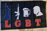 Liberty Guns Beer Trump Flag LGBT Colored Rough Tex ® 2'X3' 100D